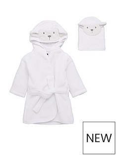 v-by-very-baby-unisex-2-piece-lamb-robe-wash-mitt-set-cream