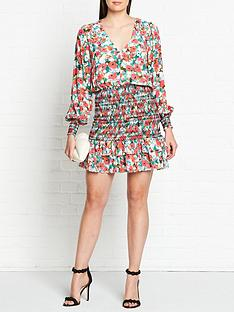 vestire-little-havana-long-sleeve-mini-dress-multicolour