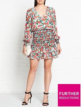vestire-little-havana-long-sleeve-mini-dress-multicolour