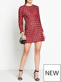talulah-lady-of-lucury-daisy-crochet-long-sleeve-dress-bordeaux