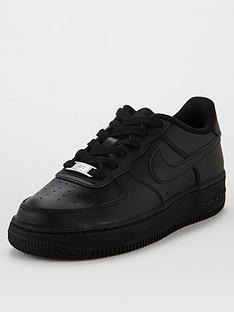 nike-air-force-1-junior-trainers-black