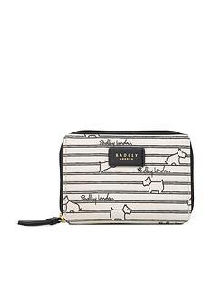radley-stripe-medium-zip-around-purse-chalk