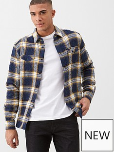 wrangler-pocket-heavy-twill-check-shirt