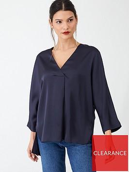 v-by-very-satin-notch-neck-blouse-navy