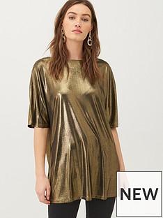 v-by-very-low-v-back-foil-jersey-top-gold