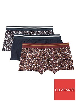 burton-menswear-london-3-pack-ditsy-floral-print-trunks-navy