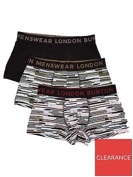 burton-menswear-london-3-pack-striped-trunks-black