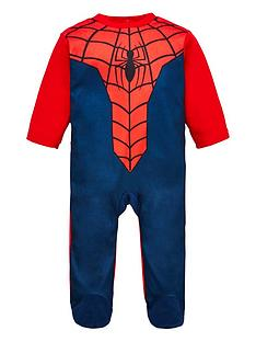 spiderman-sleepsuit-red