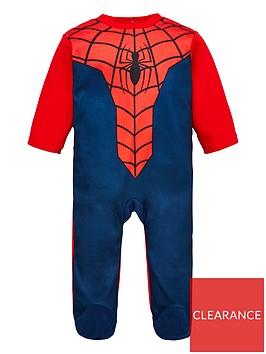 spiderman-sleepsuit-red
