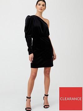 v-by-very-one-shoulder-velvet-dress