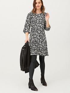 v-by-very-volume-sleeve-jersey-mini-dress-print