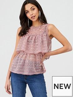 v-by-very-tiered-peplum-jersey-top-dusky-pinknbsp