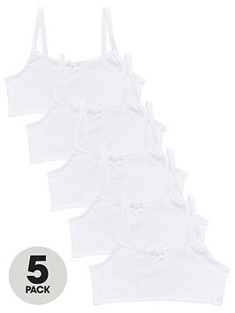 v-by-very-girls-5-pack-plain-school-crop-tops-white
