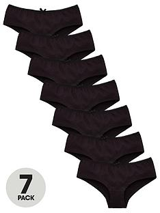 v-by-very-girls-7-pack-plain-school-hipster-briefs-black