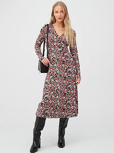 v-by-very-floral-v-neck-midi-dress-multi