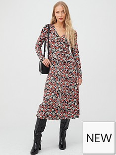 v-by-very-floral-v-neck-midi-dress-multi