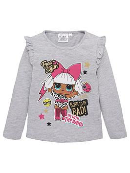 lol-surprise-girls-long-sleeve-top-light-grey