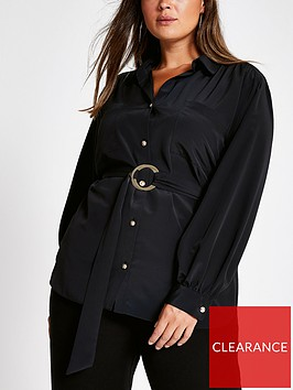 ri-plus-ri-plus-belted-long-sleeve-utility-shirt-black