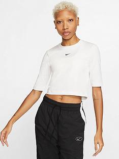 nike-nsw-essential-3-quarter-sleeve-top-whitenbsp