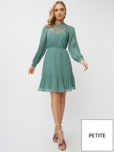 little-mistress-petite-lace-skater-dress-blue