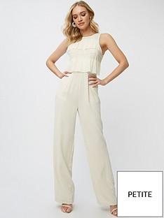 little-mistress-petite-pleated-lace-jumpsuit-cream
