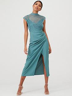 little-mistress-lace-overlay-wrap-midaxi-dress-bluemint