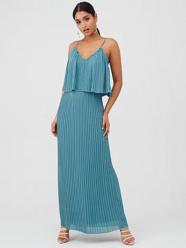 little-mistress-pleated-maxi-dress-with-lace-trims-blue