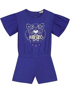 kenzo-girls-tiger-frill-sleeve-playsuitnbsp--blue