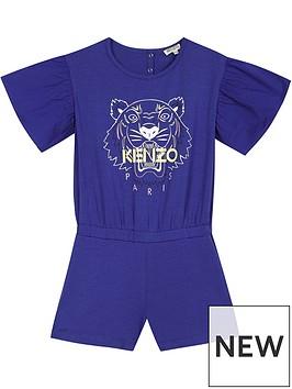 kenzo-girls-tiger-frill-sleeve-playsuitnbsp--blue