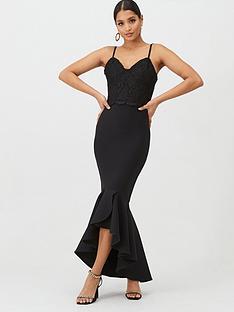 u-collection-forever-unique-strappy-bandage-maxi-dress-black