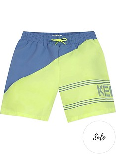 kenzo-boys-colour-block-swim-shorts-yellowblue
