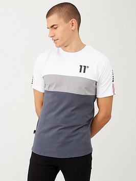 11 degrees triple panel taped t-shirt - grey/silver