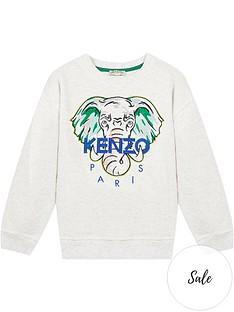 kenzo-boys-elephant-crew-neck-sweatshirt-grey
