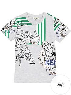 kenzo-boys-multi-logo-short-sleeve-t-shirt-grey