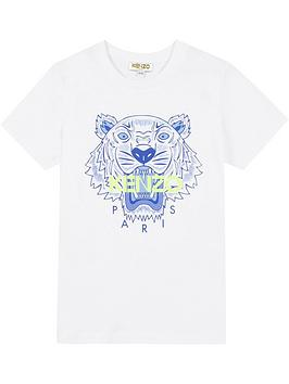 kenzo-boys-tiger-short-sleeve-t-shirt-white