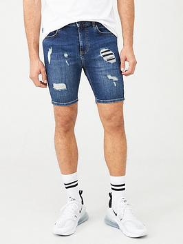 11-degrees-rip-amp-repair-skinny-fit-denim-shorts-blue