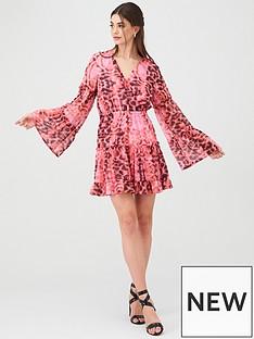 u-collection-forever-unique-u-collection-forever-unique-animal-print-wrap-mini-dress