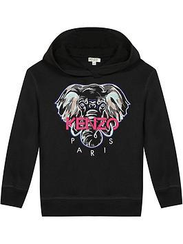 kenzo-girls-elephant-overhead-hoodienbsp--black