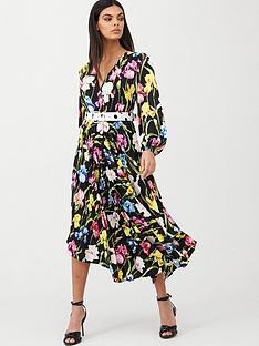 u-collection-forever-unique-mixed-print-pleated-midi-dress-multi