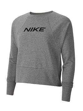 nike-training-get-fit-logo-sweat-top-carbon-heathernbsp