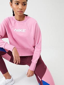 nike-training-get-fit-logo-sweat-top-flamingonbsp