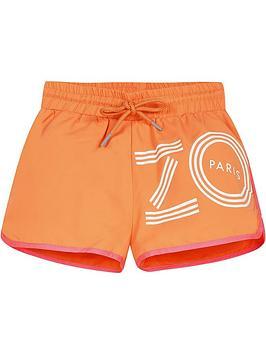 kenzo-girls-logo-runner-shorts-orangenbsp