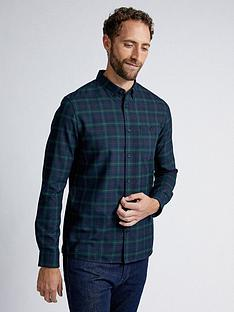 burton-menswear-london-burton-ls-navy-tartan-check-shirt-blue