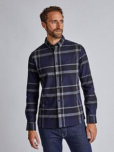 burton-menswear-london-burton-ls-navy-oysten-check-shirt-blue