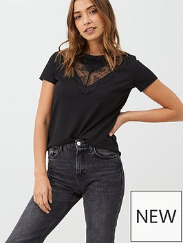 v-by-very-lace-front-t-shirt-black