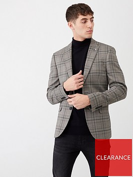 river-island-black-check-skinny-stretch-suit-jacket