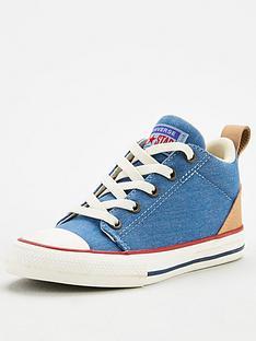 converse-chuck-taylornbspall-star-ollie-mid-childrens-trainers-bluetan