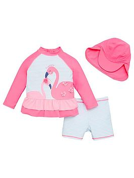 v-by-very-girls-flamingo-3-piece-frill-sunsafe-with-hat