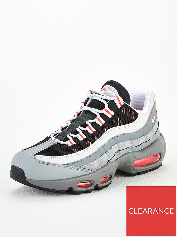 Ambos insecto Nuez  Nike Air Max 95 Essential - Red/White/Grey | very.co.uk