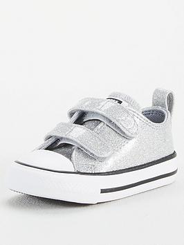 converse-chuck-taylor-all-star-ox-2v-coated-glitter-infant-trainers-silverwhite